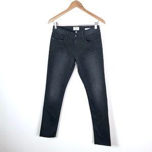 Frame Denim Jeans - FRAME | Le Garçon Slim Boyfriend Black Jeans - 25